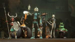 A fiatal, de annál zseniálisabb feltaláló, Rodney Réztalp (középen) bátran vezeti a harcba Robot Cityben szerzett barátait a zsarnok Retesz és ócskavas-politikája ellen.